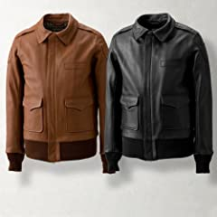 Quesorvel Flight Jacket Type A-2: Camel, Black