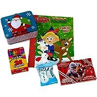 Rudolph the赤Nosed Reindeerカラーリング&アクティビティブックGiftセット、カラーリングページ、クレヨン、HolidayアクティビティFun for Children