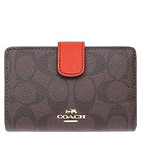 f741eea5e4d4 [コーチ] COACH 財布 (二つ折り財布) F53562 ブラウン×カーマイン IMF1U シグネチャー 財布 レディース [アウトレット品]  [並行輸入品]