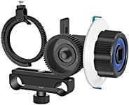 Neewer Follow Focus with Gear Ring Belt for Canon Nikon Sony and Other DSLR Camera Camcorder DV Video Fits 15m