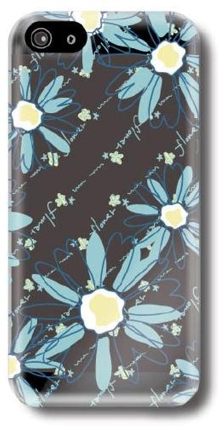 処方するドリンク単に【Paiiige】pop flowers bluishgreen (クリア)/ for i Phone5/au by KDDI専用ケース AUIPN5-100-A000