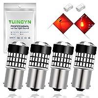 TUINCYN 1156 BA15S LED電球1141 7506 1095ベース3014 78SMDレッド900ルーメンスーパーブライトターンシグナルテールライト逆転バックアップブレーキストップLEDライトランプDC 12V-24V 4W(4パック)