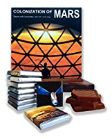"Chocolate box food gift ☄ ""COLONIZATION OF MARS"" ☄ a nice space themed chocolate set! (到着)"