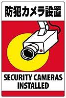 表示看板 「防犯カメラ設置」 反射加工なし 縦型 特大サイズ 90cm×135cm VH-095XL