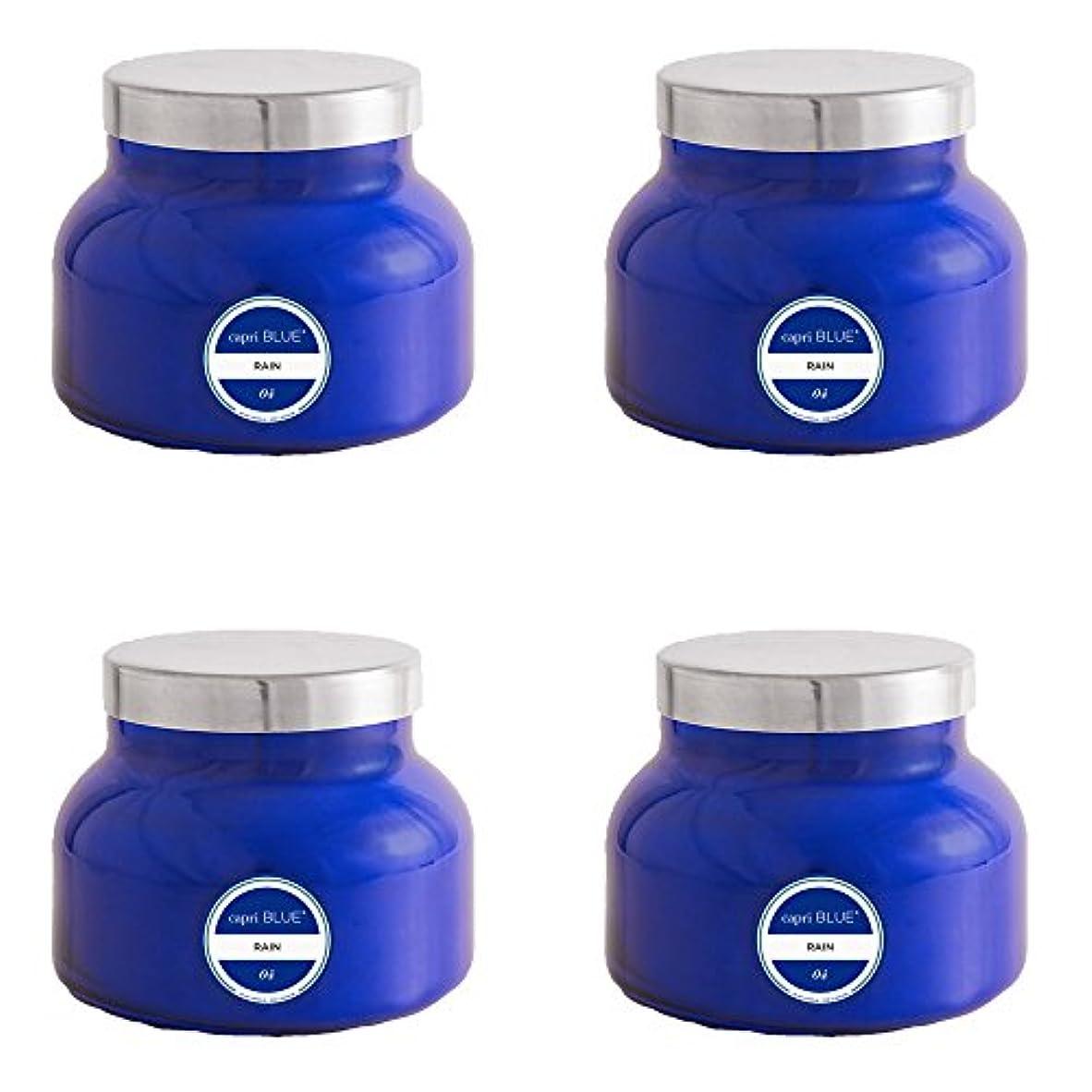 上陸予見する処理カプリブルー19 oz署名雨Jar Candle4パック、Volcano、1サイズ