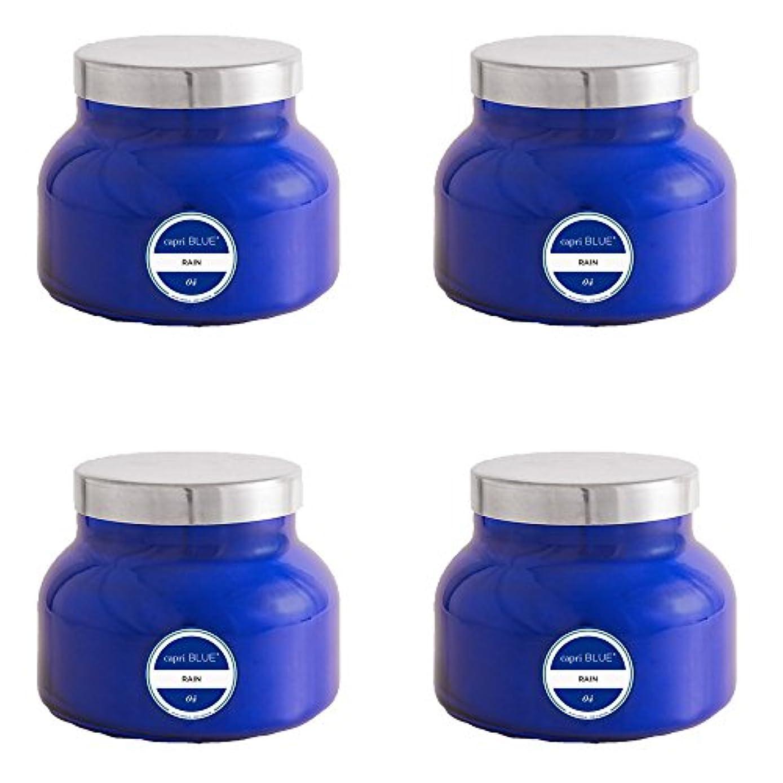 恩恵誘惑七時半カプリブルー19 oz署名雨Jar Candle4パック、Volcano、1サイズ