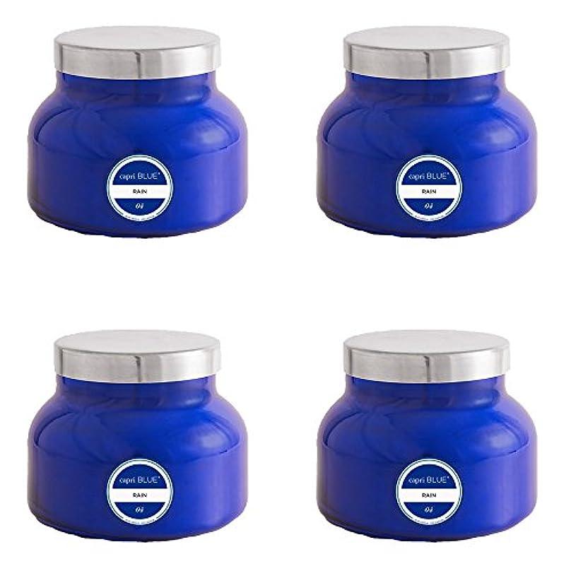 クレタ閉塞洪水カプリブルー19 oz署名雨Jar Candle4パック、Volcano、1サイズ
