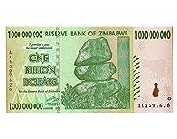 10億 ジンバブエドル ハイパーインフレ紙幣 1,000,000,000ジンバブエドル 10億ドル