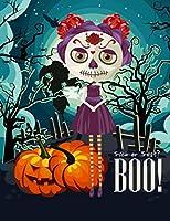 Notebook - Trick or Treat?  Boo!: Halloween Notebook/Halloween Journal. Unique Skull Notebook makes a great Halloween gift