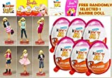 Barbie Surprise Figurine with Chocolate Kinder Joy for Girls with Surprise Inside (6-Pack) - 並行輸入品 - サプライズインサイド(6パック)の女の子のためのチョコレートキンダーの喜びとバービーサプライズの置物