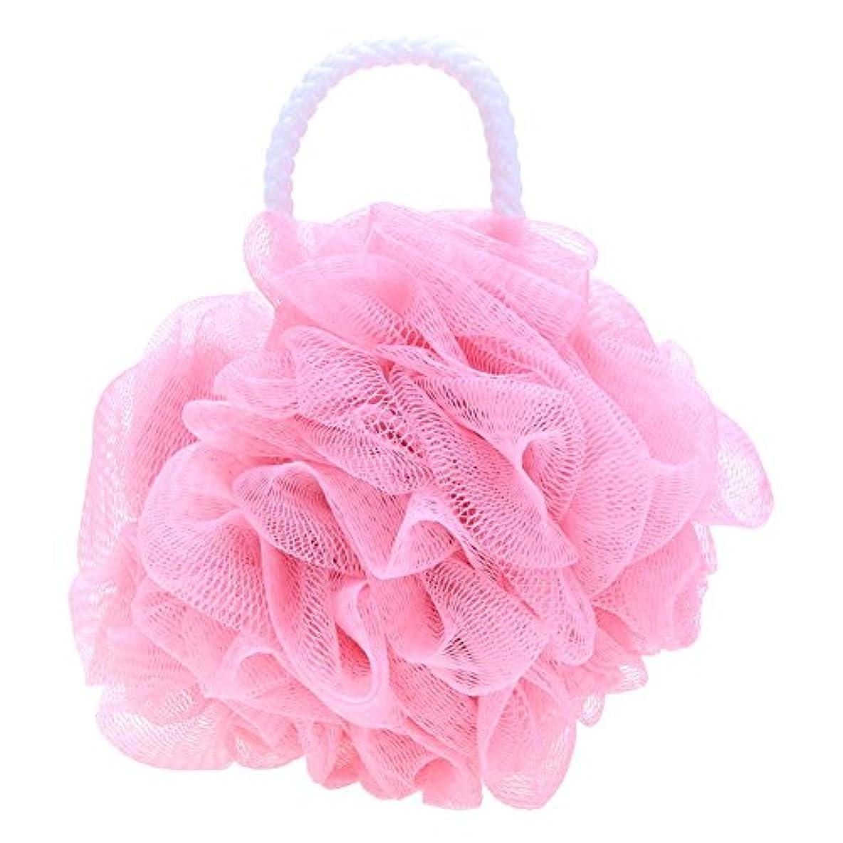 乗り出すスーパーマーケット寮Demiawaking 泡立てネットフラワーボール 泡ボール 柔らかい ボディ洗い お風呂用 泡立ち ピンク