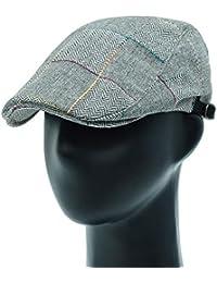 [PLIC N PLOC]EMH18.ヘリンボーンパッチメンズベレー帽 ハンチング フラットキャップ帽子 鳥打ち帽 春 秋