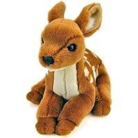 カロラータ ニホンジカ 赤ちゃん ぬいぐるみ (検針2度済み) 動物 リアルアニマルベイビー [やさしい手触り] お人形 14.5cm×19.5cm×22.5cm