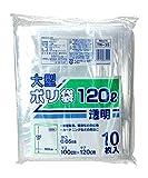 日本技研工業 透明ポリ袋 120L 10枚