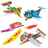 Baker Ross Star Hero Gliders (Pack of 8) for Kids Party Bag Fillers and Toys