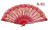 女性用レース扇子・せんす ドン・キホーテやスペインの踊り、キトリに 憧れのバレリーナ バレエ用 レース扇子 練習用 バレエ用品 (A-01)