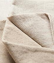 Higawaguchi Shoji Linen Cloth Fabric Thick Linen Cotton Craft Sofa Cover Curtain (Brown Brown, 9.8 ft (3 m)