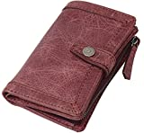 BAGGY PORT バギーポート 二つ折り財布 メンズ 牛革 キップレザー フラップタイプ HRD-105【レッド】