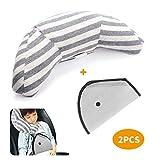 LATTCURE シートベルトカバー 子供 シートベルトパッド シートベルト 子供 枕 車用 補助ベルト 人間工学デザイン 寝姿を矯正 低反発 旅行 安全
