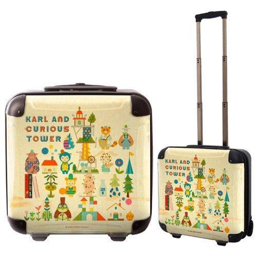 キャラート|アートスーツケース|カルルとふしぎな塔|ジッパー2輪|機内持込/CRB01-J00801