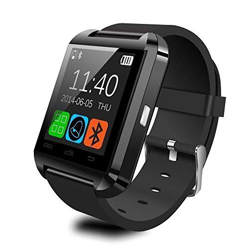 AmYin【日本語】アンドロイドブルートゥーススマートウォッチ Android Bluetooth Smart Watch 腕時計 U81(ブラック)
