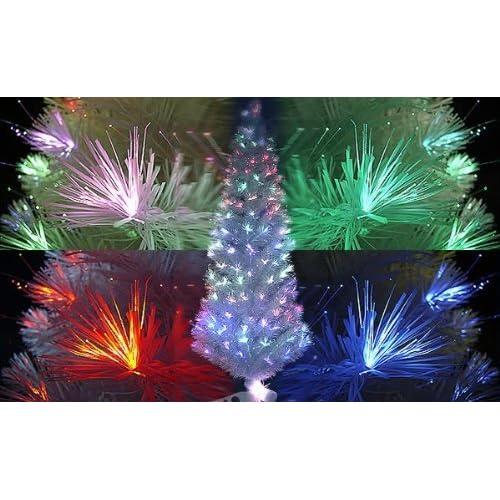 LEDファイバーツリー クリスマスツリー 高さ210cm ホワイト