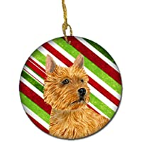 Carolines Treasures SS4568-CO1 Norwich Terrier Candy Cane Holiday Christmas Ceramic Ornament