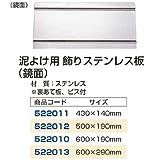 ジェットイノウエ製 泥除け用飾りステンレス板(鏡面) 600×190mm【トラック用品】