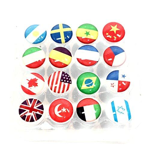 [해외](Aideaz) 압정 압핀 압정 국기 인테리어 핀 플라스틱 멋쟁이 귀여운 월드컵/(Aideaz) Pushpin Push Push Pin Pin Flag Interior Pin Plastic Fashionable Cute World Cup