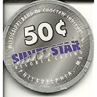 $ .50シルバーStar House Philadelphia MississippiカジノチップObsolete Riverboat ?