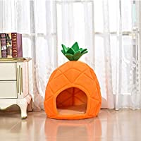ペット用品 新しいペットベッド四季ユニバーサルクリエイティブ猫の巣、柔らかい猫子犬フルーツ形状閉鎖壁猫クライミングフレーム、屋内と屋外に適し ペット用 (Size : S)