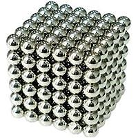 Mini Rainbow 強力磁石 強力マグネット 立体パズル ボール 球形 直径3mm N42 ネオジム ネオジウム ニッケルメッキ 専用ケース付き 216個セット(銀色)