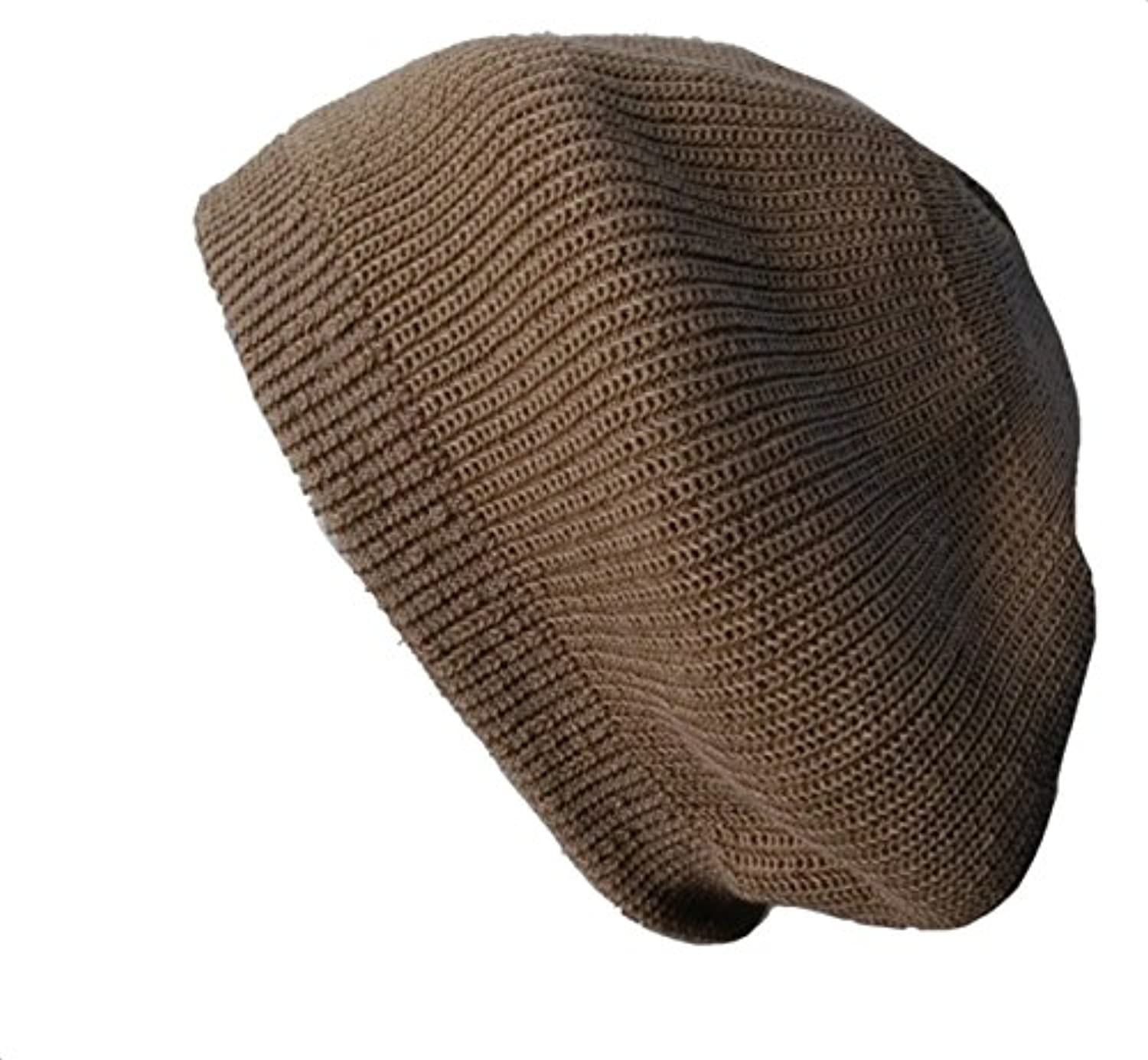 【ノーブランド品】 no brand 【 カラー : ベージュ 】 帽子 サマー ニット ベレー帽 ニット仕立て ゴムリブ編み ベレー レディース メンズ 春 夏 男女兼用 柔らか 軽い