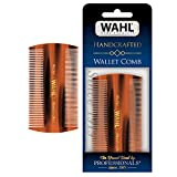 Wahl Beard & Moustache Wallet Comb for Men's Grooming - Handcrafted & Hand Cut with Cellulose Acetate - Smooth, Rounded Tapered Teeth - Model 3327