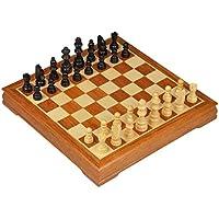 Traditional Maple and Walnut Wood Chess Set - 11.8' [並行輸入品]