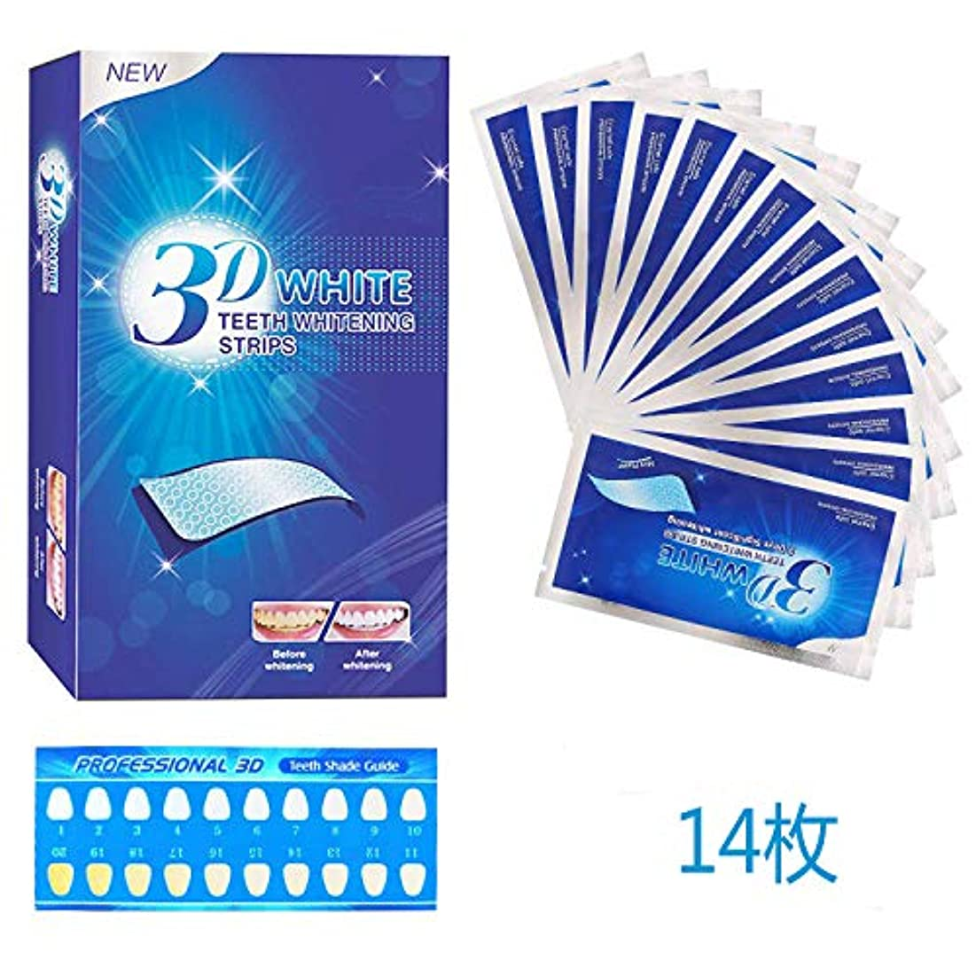 ごちそう兵士代名詞CABOLEZA ホワイトニング Double Elastic Gel Strips 7セット 14枚入り日本語取扱説明書