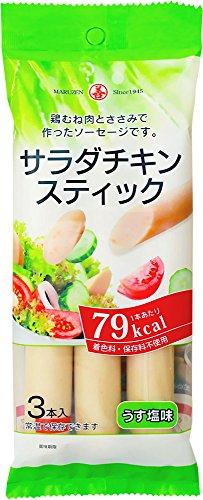 丸善 サラダチキンスティック3本Pうす塩味 195g×10袋