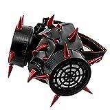 フェイスマスク 人気 レザー ハーフ フェイス マスク スタッズ付き Steampunk マスク 男女兼用 自転車 バイク コスプレ ロック ゴシック アクセサリー 40