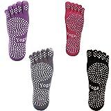PAMASE  五本指ヨガソックス 滑り止め付き ピラティスソックス 抗菌消臭靴下 2足セット