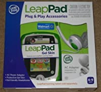 LeapFrog LeapPad Learning Tablet Plug & Play Accessories (Green) Gel Skin AC Adapter and Headphones [並行輸入品]