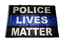 4x 6警察Lives Matterブルーライン両面2ply国旗4' x6' Ftバナー