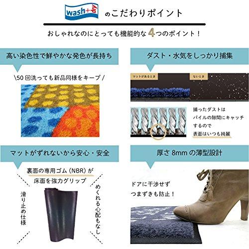 クリーンテックス ジャパン wash+dry薄型で丈夫な洗える玄関マット Stars sand 75×120cm 1枚