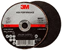 3M High Performance Cut-Off Wheel T1 66557, Ceramic, 3 Diameter, 1/32 Thick, 3/8 Arbor, 60+ Grit, 25465 rpm (Case of 25) by 3M