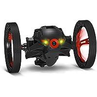【国内正規品】Parrot ドローン Minidrones Jumping Sumo 2輪型ロボット 7km時速 80cmジャンプ LED マイクスピーカー ブラック PF724031T