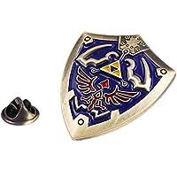 Zelda Pin - Hylian Shield Pin - Zelda Brooch - Hylian Shield, Blue, Size 1.5