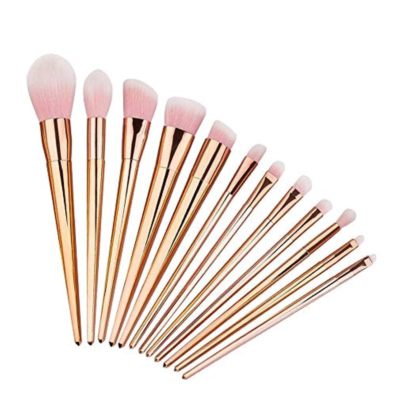 入る責めヘッジプロフェッショナル メイクブラシ 化粧筆 シリーズ 化粧ブラシセット 高級タクロン 超柔らかい 可愛い リップブラシツール 12本セット