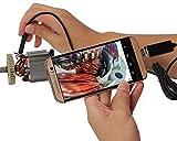 Four Piece マイクロスコープ 携帯で使えるカメラ 防水 USB内視鏡 ライト付き 内視鏡 顕微鏡 1m ファイバースコープ アンドロイド用