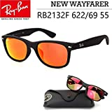 Ray-Ban ニューウェイファーラー レイバン サングラス ニューウェイファーラー RB2132F 622/69 55 ミラーレンズ メンズ レディース Ray-Ban New WAYFARER