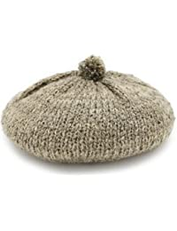 ベレー帽 ニット 帽子 レディース 秋冬 ガーリー ナチュラル シンプル ボンボン ミックスカラーニットベレー帽