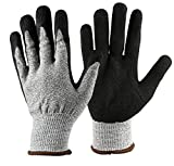 Tezam 植栽手袋 掘り 植栽用防刃グローブ ガーデニング用手袋 爪付き作業 園芸用具 防水作業用手袋